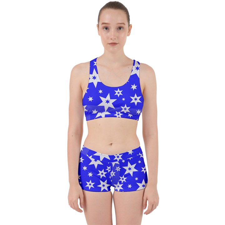 Star Background Pattern Advent Work It Out Gym Set