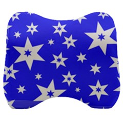 Star Background Pattern Advent Velour Head Support Cushion