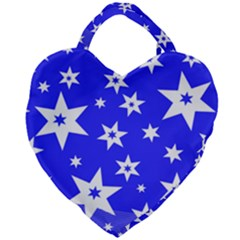 Star Background Pattern Advent Giant Heart Shaped Tote