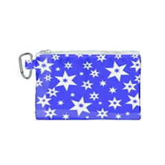 Star Background Pattern Advent Canvas Cosmetic Bag (small)