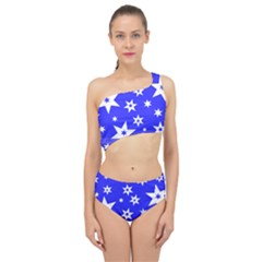 Star Background Pattern Advent Spliced Up Two Piece Swimsuit