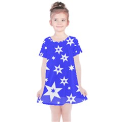 Star Background Pattern Advent Kids  Simple Cotton Dress