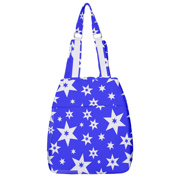 Star Background Pattern Advent Center Zip Backpack