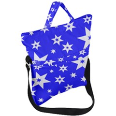 Star Background Pattern Advent Fold Over Handle Tote Bag by HermanTelo