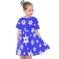 Star Background Pattern Advent Kids  Sailor Dress by HermanTelo