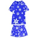 Star Background Pattern Advent Kids  Swim Tee and Shorts Set View1