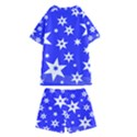 Star Background Pattern Advent Kids  Swim Tee and Shorts Set View2