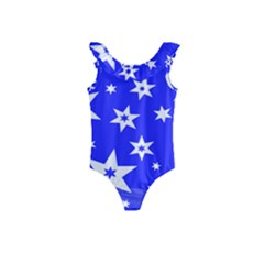Star Background Pattern Advent Kids  Frill Swimsuit