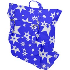 Star Background Pattern Advent Buckle Up Backpack by HermanTelo