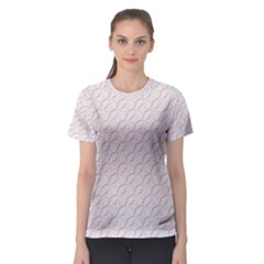 Wallpaper Abstract Pattern Graphic Women s Sport Mesh Tee
