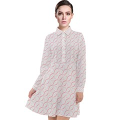 Wallpaper Abstract Pattern Graphic Long Sleeve Chiffon Shirt Dress