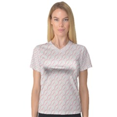 Wallpaper Abstract Pattern Graphic V Neck Sport Mesh Tee by HermanTelo