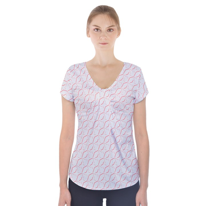 Wallpaper Abstract Pattern Graphic Short Sleeve Front Detail Top