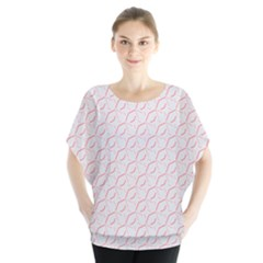 Wallpaper Abstract Pattern Graphic Batwing Chiffon Blouse by HermanTelo