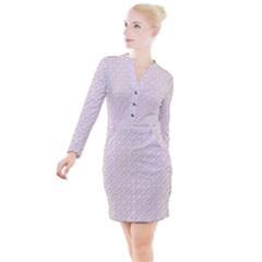 Wallpaper Abstract Pattern Graphic Button Long Sleeve Dress