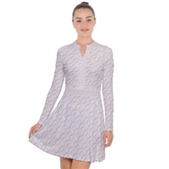 Wallpaper Abstract Pattern Graphic Long Sleeve Panel Dress