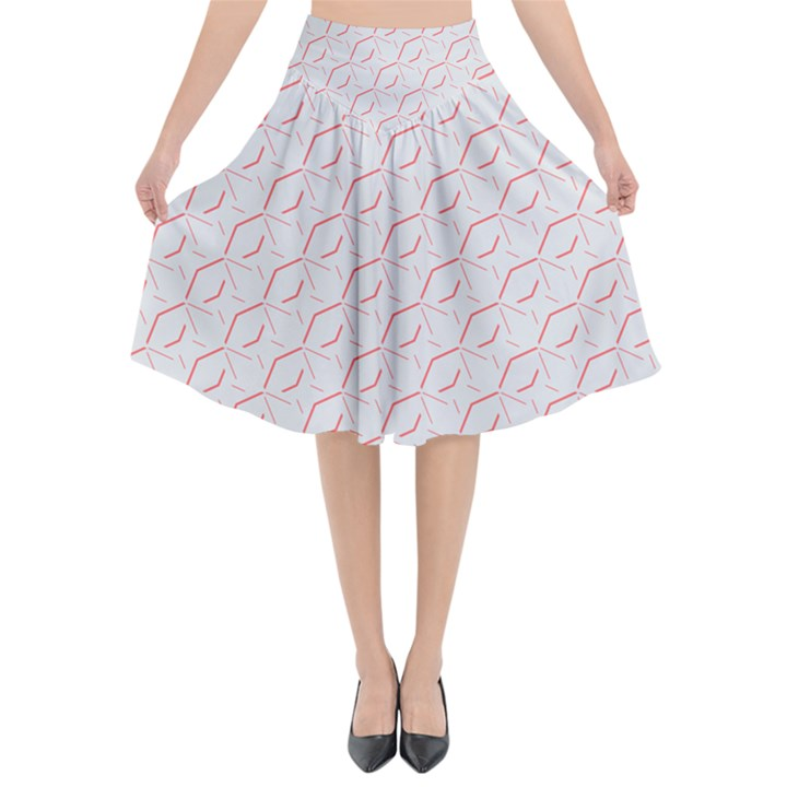Wallpaper Abstract Pattern Graphic Flared Midi Skirt
