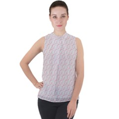 Wallpaper Abstract Pattern Graphic Mock Neck Chiffon Sleeveless Top by HermanTelo