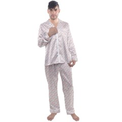 Wallpaper Abstract Pattern Graphic Men s Satin Pajamas Long Pants Set