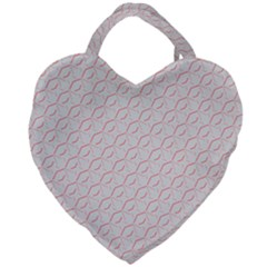 Wallpaper Abstract Pattern Graphic Giant Heart Shaped Tote by HermanTelo