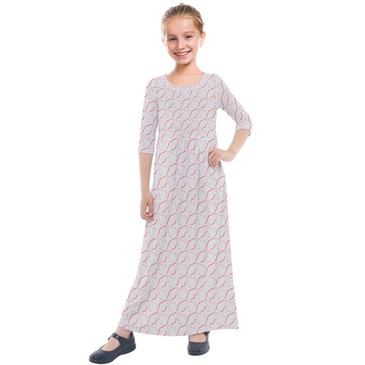 Wallpaper Abstract Pattern Graphic Kids  Quarter Sleeve Maxi Dress