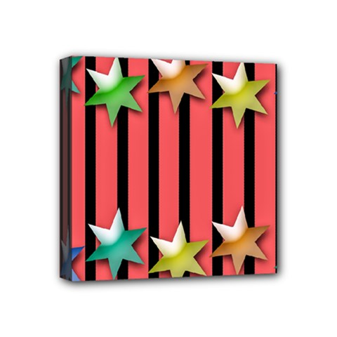 Star Christmas Greeting Mini Canvas 4  X 4  (stretched) by HermanTelo