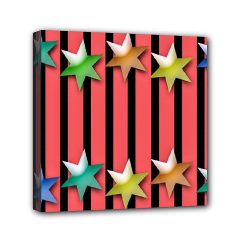 Star Christmas Greeting Mini Canvas 6  X 6  (stretched) by HermanTelo