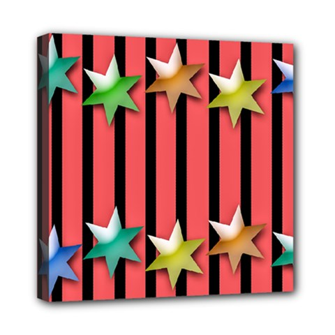Star Christmas Greeting Mini Canvas 8  X 8  (stretched) by HermanTelo