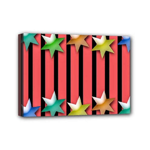Star Christmas Greeting Mini Canvas 7  X 5  (stretched) by HermanTelo