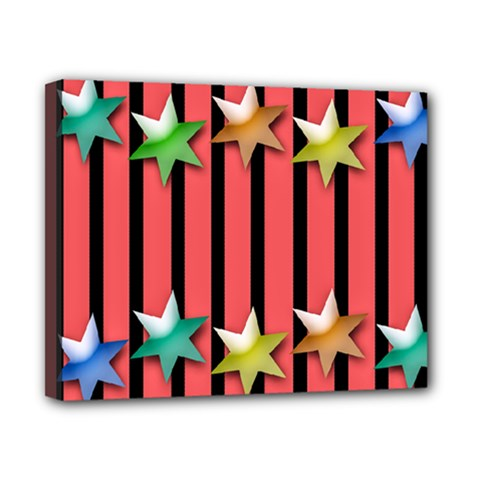 Star Christmas Greeting Canvas 10  X 8  (stretched) by HermanTelo