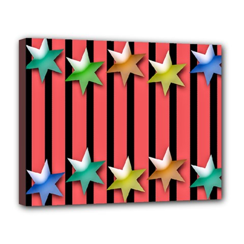 Star Christmas Greeting Canvas 14  X 11  (stretched) by HermanTelo
