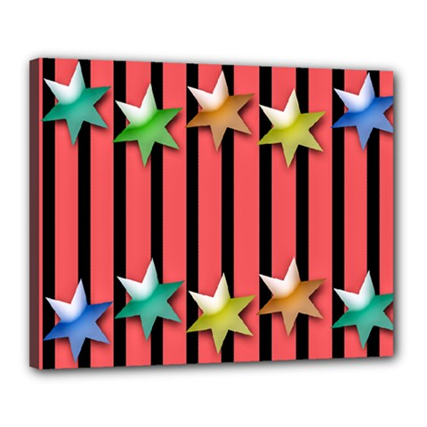 Star Christmas Greeting Canvas 20  X 16  (stretched) by HermanTelo