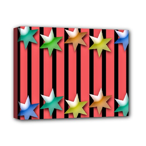 Star Christmas Greeting Deluxe Canvas 14  X 11  (stretched) by HermanTelo