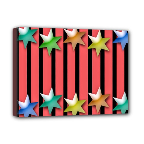 Star Christmas Greeting Deluxe Canvas 16  X 12  (stretched)  by HermanTelo