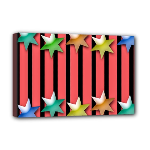Star Christmas Greeting Deluxe Canvas 18  X 12  (stretched) by HermanTelo