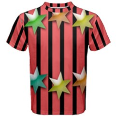 Star Christmas Greeting Men s Cotton Tee