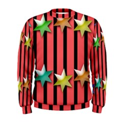 Star Christmas Greeting Men s Sweatshirt