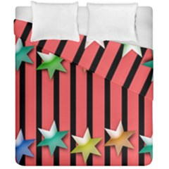 Star Christmas Greeting Duvet Cover Double Side (california King Size) by HermanTelo