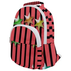 Star Christmas Greeting Rounded Multi Pocket Backpack