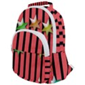 Star Christmas Greeting Rounded Multi Pocket Backpack View1