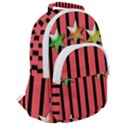Star Christmas Greeting Rounded Multi Pocket Backpack View2