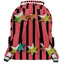 Star Christmas Greeting Rounded Multi Pocket Backpack View3