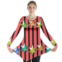 Star Christmas Greeting Long Sleeve Tunic  View1