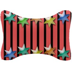 Star Christmas Greeting Seat Head Rest Cushion