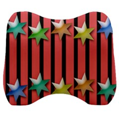 Star Christmas Greeting Velour Head Support Cushion