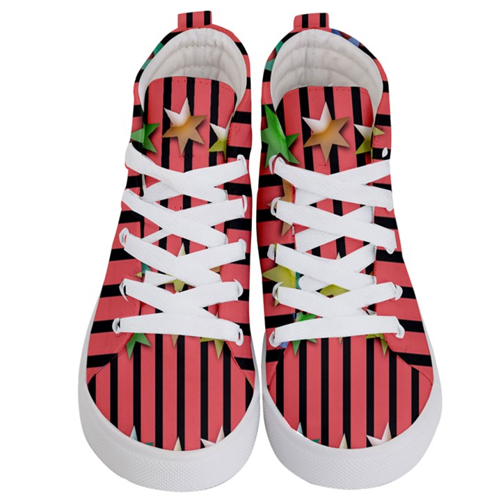 Star Christmas Greeting Kids  Hi-Top Skate Sneakers