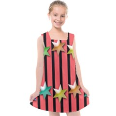 Star Christmas Greeting Kids  Cross Back Dress by HermanTelo