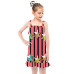 Star Christmas Greeting Kids  Overall Dress by HermanTelo