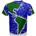 Globe Drawing Earth Ocean Men s Cotton Tee View1