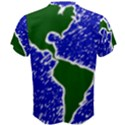 Globe Drawing Earth Ocean Men s Cotton Tee View2